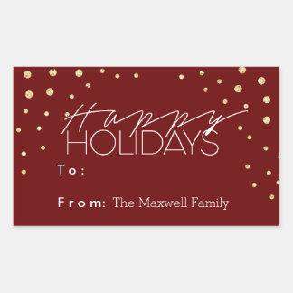 Sleek & Playful Holiday   Gift Label