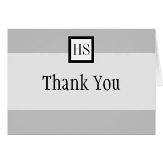 Sleek Professional Thank You : Note Card