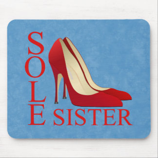 Sleek Shoes Illustration Mouse Pad