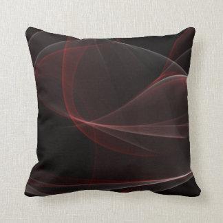 Sleek Smoke Fractal Pillow