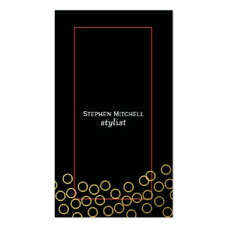 Sleek, Striking Black and Gold Business Cards