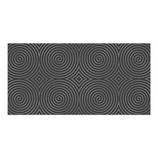 Sleek, stylish, black and white design. photo card