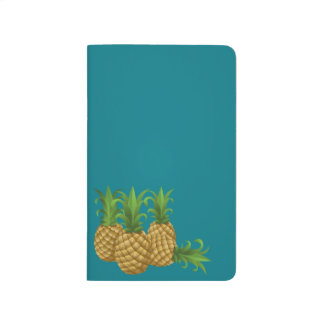 Sleek Teal Retro Vintage Pineapple Journals