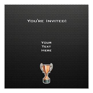 Sleek Trophy 13 Cm X 13 Cm Square Invitation Card