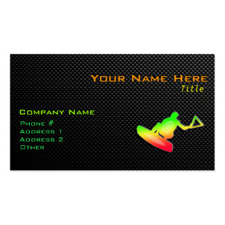 Sleek Wakeboarder Pack Of Standard Business Cards