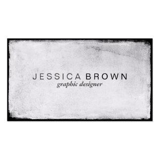 Sleek White Chalkboard Vintage Business Cards Pack Of Standard Business Cards