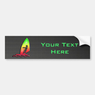 Sleek Windsurfing Bumper Sticker
