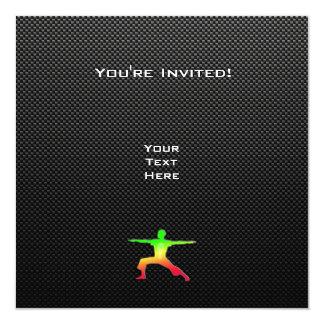Sleek Yoga 13 Cm X 13 Cm Square Invitation Card
