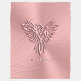 Sleep and be refreshed - Pink Phoenix Rising Fleece Blanket