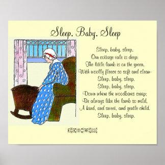 """Sleep, Baby, Sleep"" Vintage Poster"