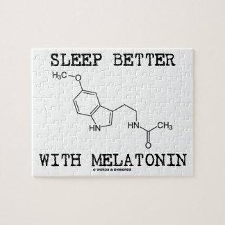 Sleep Better With Melatonin (Chemical Molecule) Puzzle