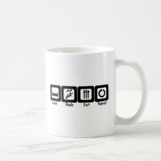 Sleep Blade Eat Repeat Basic White Mug