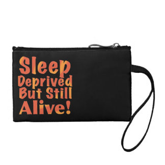 Sleep Deprived But Still Alive in Fire Tones Coin Purse