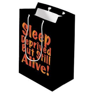 Sleep Deprived But Still Alive in Fire Tones Medium Gift Bag