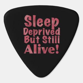 Sleep Deprived But Still Alive in Raspberry Guitar Pick