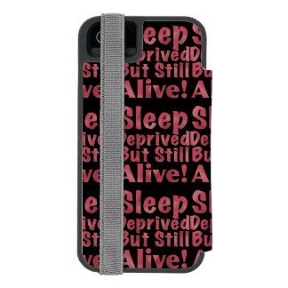 Sleep Deprived But Still Alive in Raspberry Incipio Watson™ iPhone 5 Wallet Case