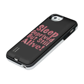 Sleep Deprived But Still Alive in Raspberry iPhone SE/5/5s Battery Case