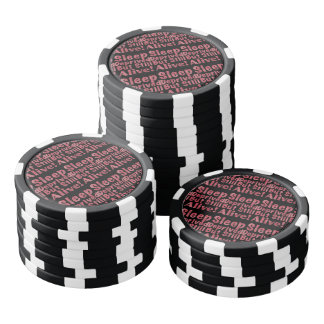 Sleep Deprived But Still Alive in Raspberry Poker Chip Set