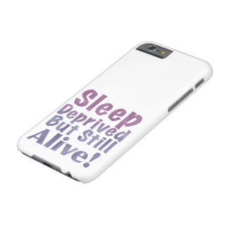 Sleep Deprived But Still Alive in Sleepy Purples Barely There iPhone 6 Case