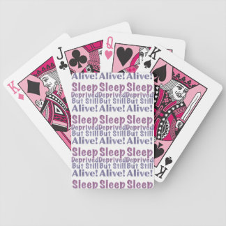 Sleep Deprived But Still Alive in Sleepy Purples Bicycle Playing Cards
