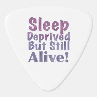 Sleep Deprived But Still Alive in Sleepy Purples Guitar Pick