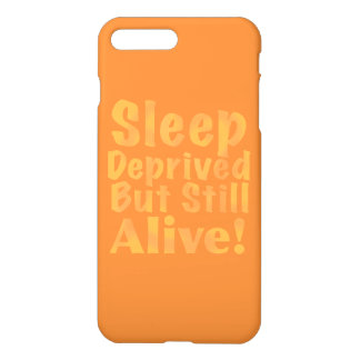 Sleep Deprived But Still Alive in Sleepy Purples iPhone 8 Plus/7 Plus Case