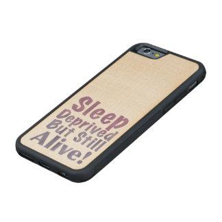 Sleep Deprived But Still Alive in Sleepy Purples Maple iPhone 6 Bumper