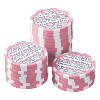 Sleep Deprived But Still Alive in Sleepy Purples Poker Chips
