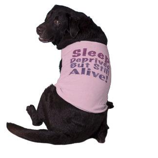 Sleep Deprived But Still Alive in Sleepy Purples Shirt