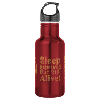 Sleep Deprived But Still Alive in Yellow 532 Ml Water Bottle