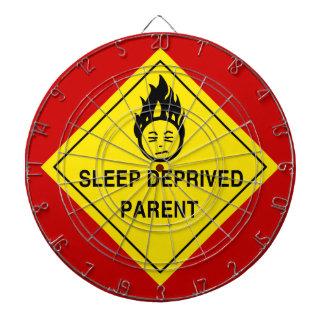 Sleep Deprived Parent Dartboard With Darts