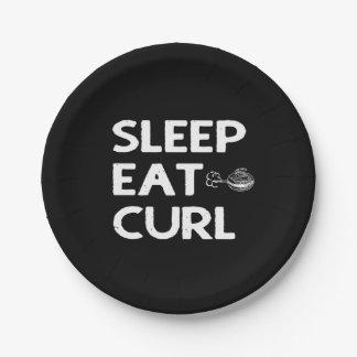 Sleep Eat Curl Paper Plate