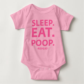 Sleep. Eat. Poop. Repeat. Baby Bodysuit