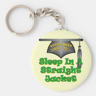 Sleep In Straight Jacket Basic Round Button Key Ring