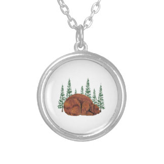 SLEEP JUST RIGHT SILVER PLATED NECKLACE