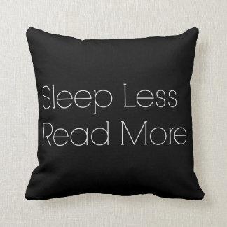 Sleep less, read more cushion