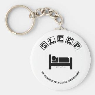 Sleep My Favorite Modus Operandi (Sign Humor) Basic Round Button Key Ring
