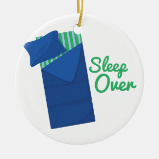 Sleep Over Ceramic Ornament