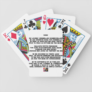 SLEEP - Poem - François Ville Bicycle Playing Cards