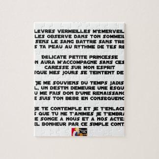 SLEEP - Poem - François Ville Jigsaw Puzzle