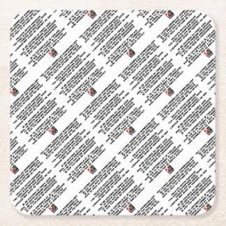 SLEEP - Poem - François Ville Square Paper Coaster