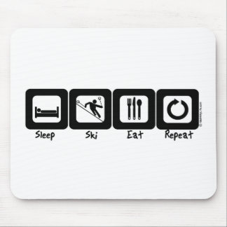 Sleep Ski Eat Repeat Mouse Mat