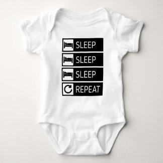 Sleep Sleep Sleep Repeat Baby Bodysuit