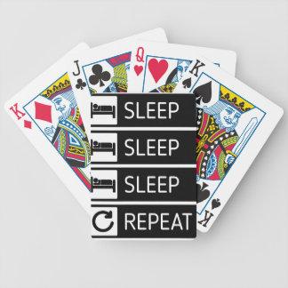 Sleep Sleep Sleep Repeat Bicycle Playing Cards