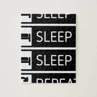 Sleep Sleep Sleep Repeat Jigsaw Puzzle