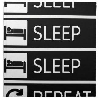 Sleep Sleep Sleep Repeat Napkin