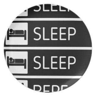 Sleep Sleep Sleep Repeat Plate