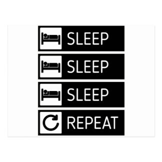 Sleep Sleep Sleep Repeat Postcard