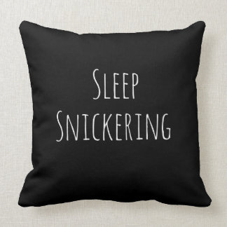 Sleep Snickering Throw Pillow