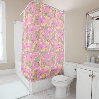 Sleep time bear shower curtain